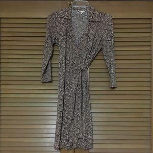 London Times jersey knit wrap dress 8P